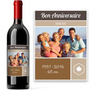 Bouteille de vin personnalisée photo