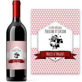 Bouteille de vin vintage personnalisée