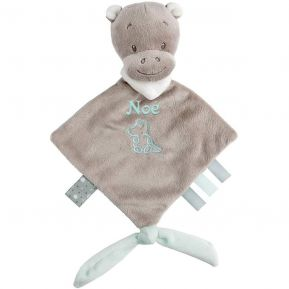 Mini doudou Nattou Hyppolyte l'hippopotame brodé