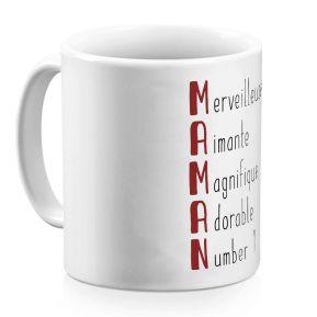 Mug Les qualités de Maman