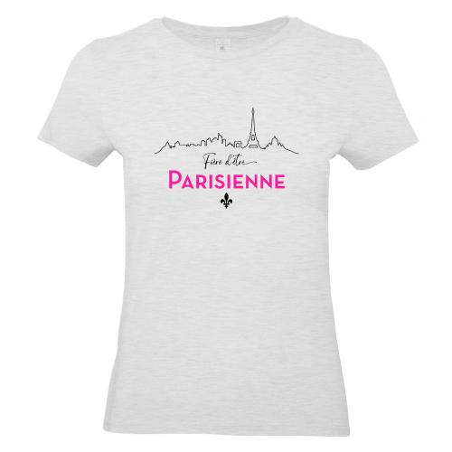 T-shirt gris Fière d'être Parisienne