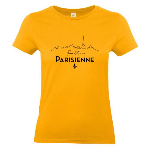 T-shirt abricot Fière d'être Parisienne