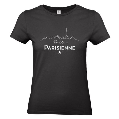 T-shirt noir Fière d'être Parisienne