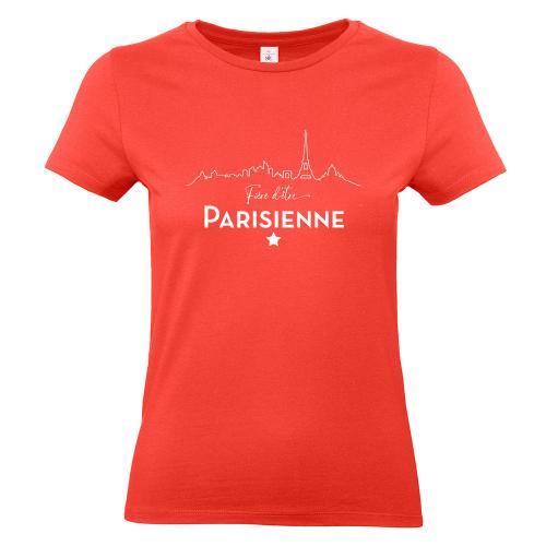 T-shirt corail Fière d'être Parisienne