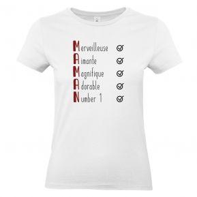 T-shirt Les qualités de Maman