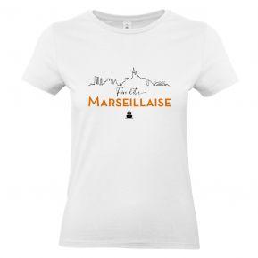 T-shirt Fière d'être Marseillaise