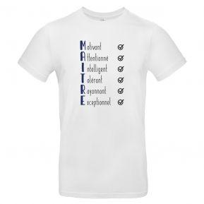 T-shirt Les qualités du Maître