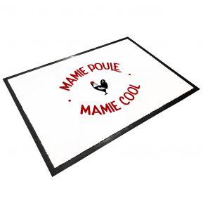Tapis d'entrée en caoutchouc Mamie Poule Mamie Cool