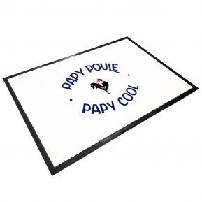 Tapis d'entrée en caoutchouc Papy Poule Papy Cool