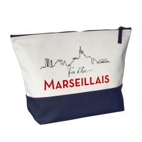 Grande trousse bicolore Fier d'être Marseillais