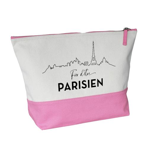 Trousse bicolore rose Fier d'être Parisien
