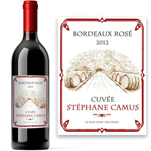 Etiquette personnalisée Bordeaux rosé