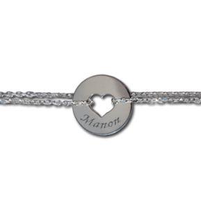 Bracelet jeton avec chaîne