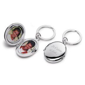 Porte clés photo duo gravé