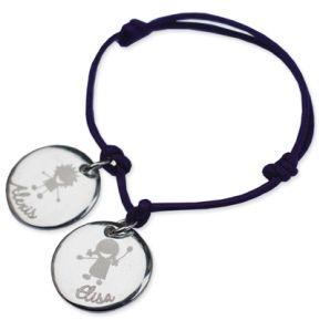 Bracelet silhouette enfant gravé