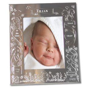 Cadre de naissance gravé