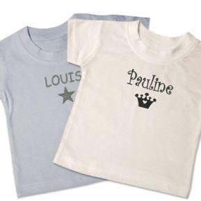 T-shirt bébé personnalisable
