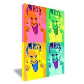 Tableau Pop Art rectangulaire 4 photos