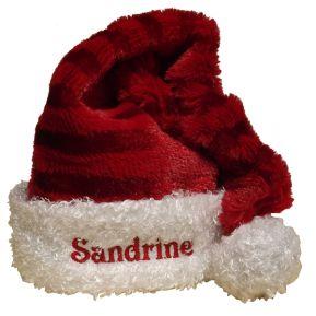 Bonnet de Noël Rayé