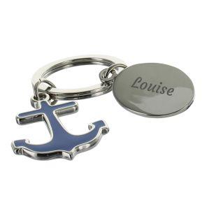 Porte-clés ancre gravée