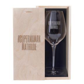 Verre à vin fête des mères personnalisé