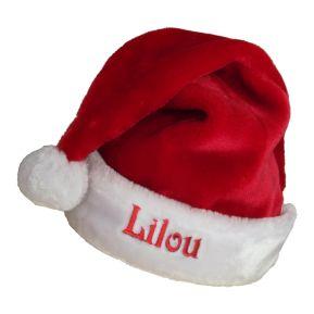 Bonnet de Noël adulte extra doux brodé