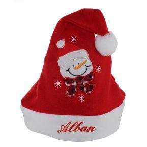 Bonnet de Noël enfant brodé