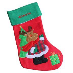 Botte de Noël renne ou ses amis