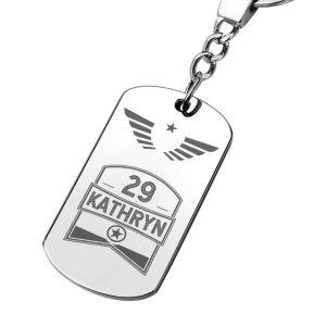 Porte-clés anniversaire gravé