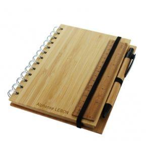 Carnet de note bambou gravé