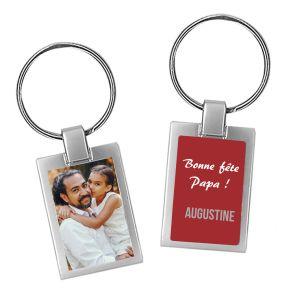 Porte-clés photo fête des pères