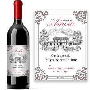 Bouteille de vin Amour personnalisée