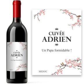 Bouteille de vin Japonisant personnalisée