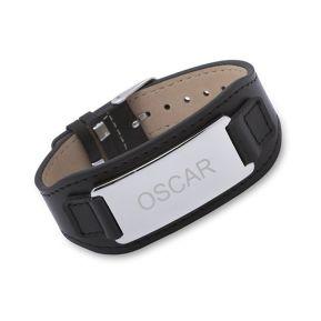 Bracelet en cuir à graver pour homme