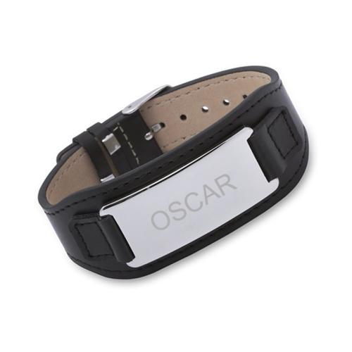 bracelet cuir homme noir