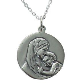 Médaille de baptême Madone gravée
