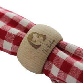 Rond de serviette en bois My Family