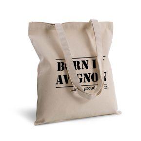 Tote bag Anniversaire 100% coton imprimé Born in