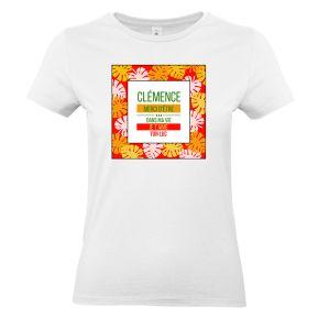 T-shirt palmier femme personnalisé