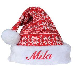 Bonnet de Noël scandinave personnalisé