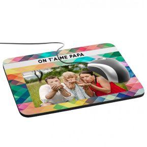 Tapis de souris personnalisé carrés multicolores
