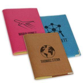 Protège passeport cuir personnalisé motifs Voyage