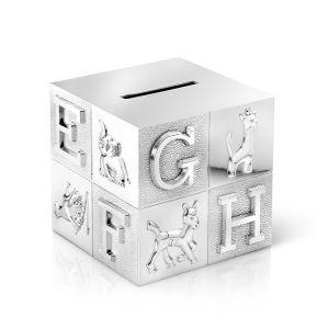 Tirelire cube Alphabet personnalisable