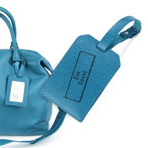 Porte-étiquette de bagage cuir personnalisé tampon