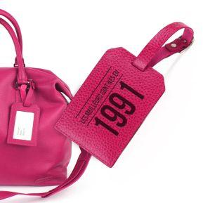 Porte-étiquette de bagage en cuir personnalisé anniversaire