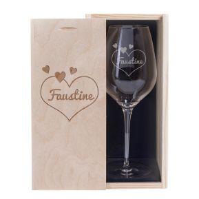 Verre à vin personnalisé Saint Valentin