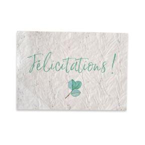 Carte Félicitations biodégradable à faire pousser