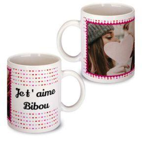 Mug photo personnalisé Amour