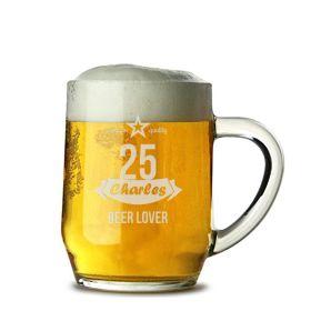 Chope à bière Anniversaire gravée