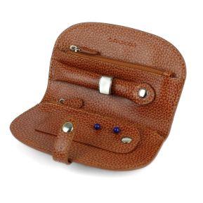 Trousse de transport à bijoux personnalisée en cuir